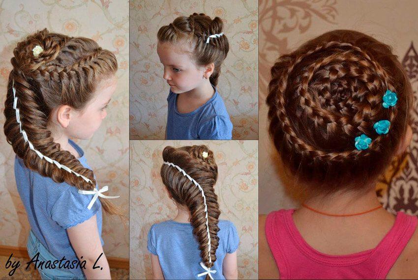 Детские прически косы
