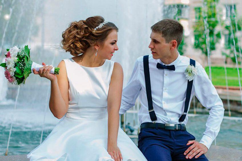 свадебная прическа и макияж тюмень
