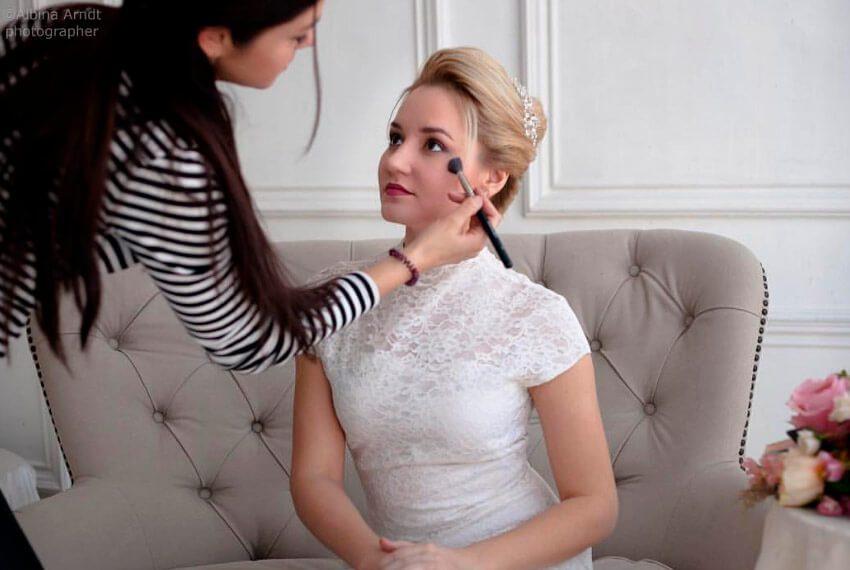 Анна Арндт. Свадебные прически, макияж.